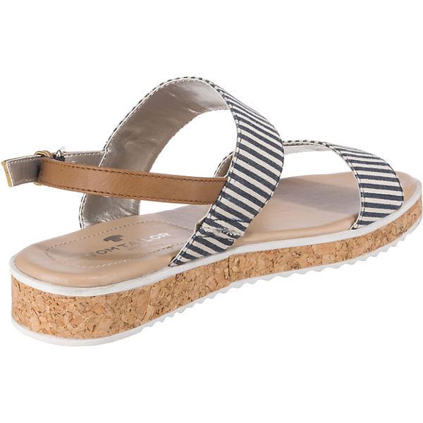 Komfort Tom Tailor kombi Blau sandalen 5L4j3RA