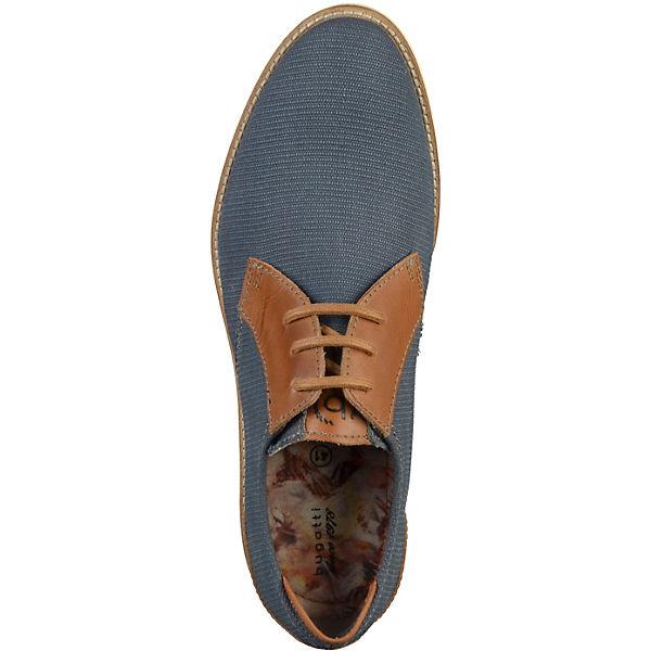 bugatti Schnürschuhe blau