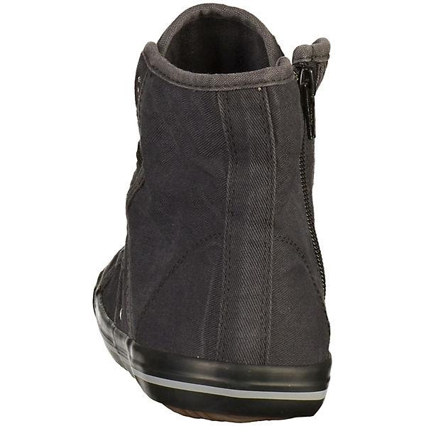 MUSTANG Sneakers High schwarz