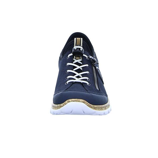 rieker, N4263  Sneakers Low, blau   N4263 c2cf9c