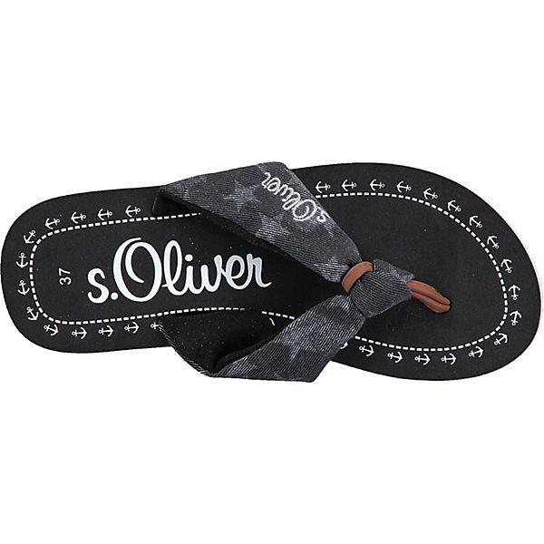 schwarz Zehentrenner Oliver Oliver s schwarz s Zehentrenner qROU0