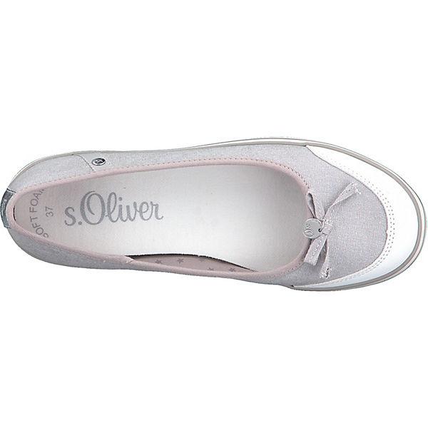 Ballerinas grau s Oliver s Sportliche Ballerinas s Sportliche Sportliche Oliver Oliver grau qr04Anrt