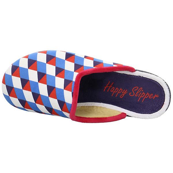 Pantoffeln Triangel Slipper blau Happy II 5qtwxxZ6B