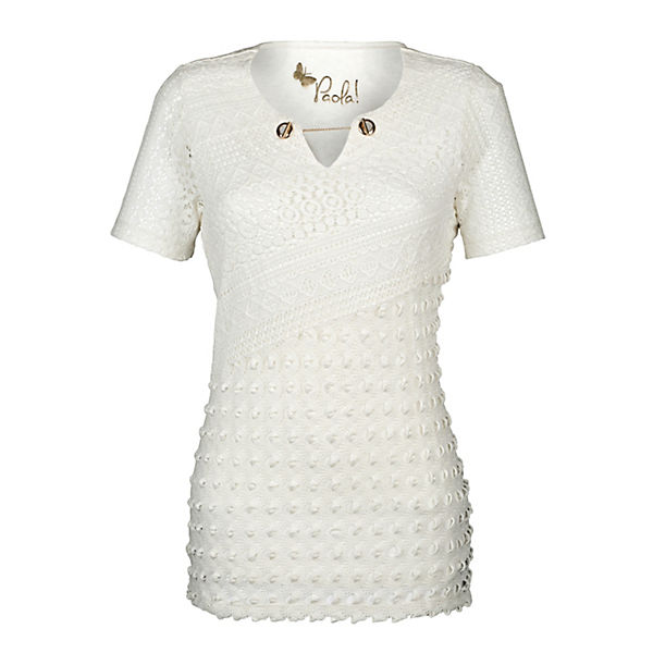 T Paola Paola Shirt T weiß 17wO6qpOc