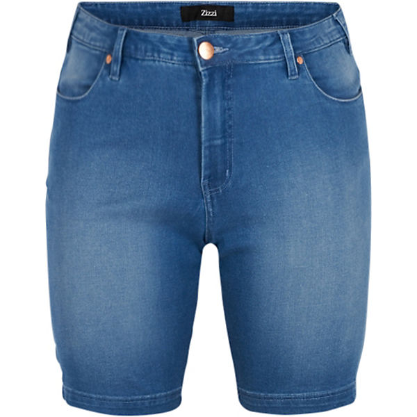 Jeansshorts light Emily blue denim Slim Zizzi vad4wqd