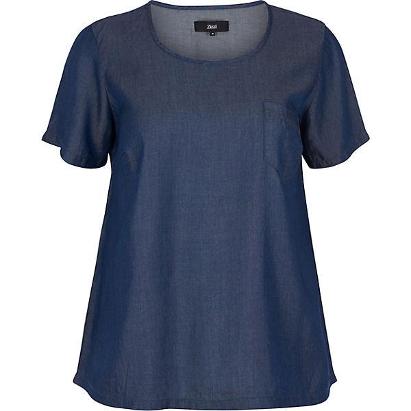 Zizzi denim Blusenshirt Blusenshirt blue Blusenshirt blue denim Zizzi Zizzi zwRgx5WnqT