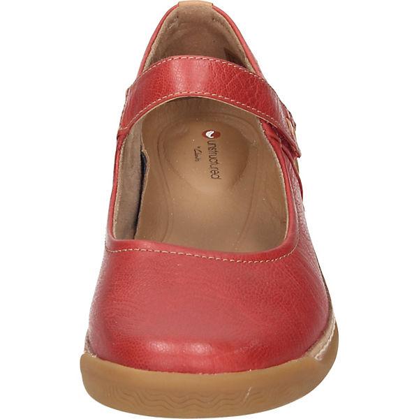 Clarks Qualität Schnallenballerinas rot  Gute Qualität Clarks beliebte Schuhe 1f74fc