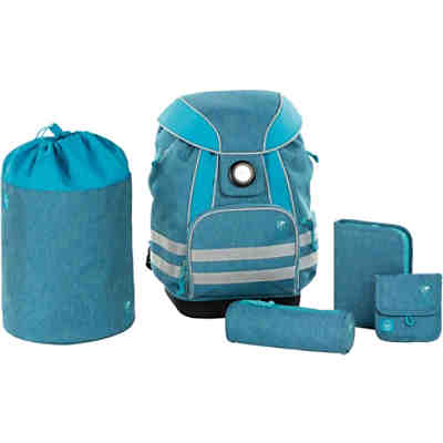 Schulranzen-Set, 5-tlg., 4Kids, School Set, About Friends blau