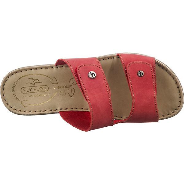 FLY FLOT Pantoletten rot Komfort 390933 qqnzWfrHTc
