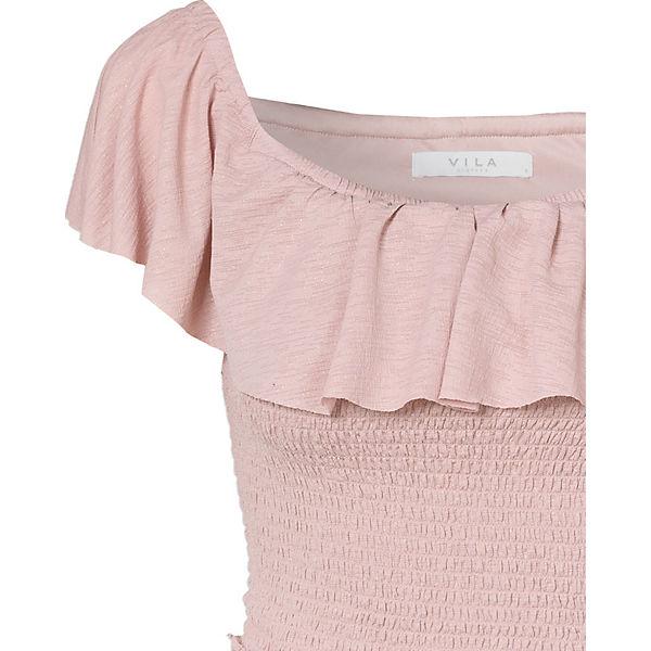Off altrosa VILA Off Kleid VILA Shoulder Shoulder f0HTwqxW
