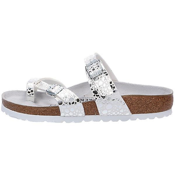 BIRKENSTOCK Zehentrenner weiß  Gute Qualität beliebte Schuhe