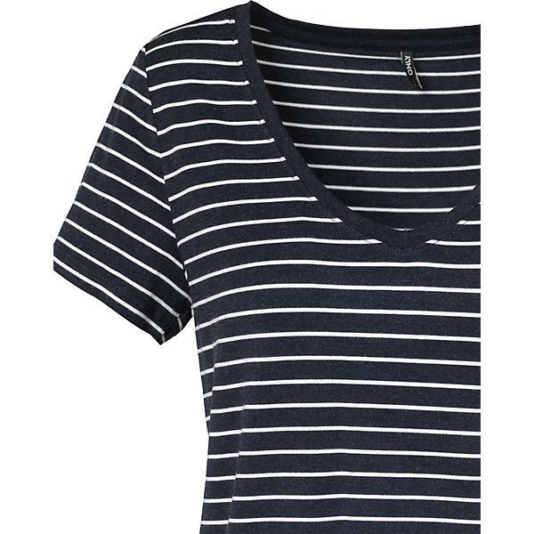 blau T ONLY weiß Shirt T weiß ONLY blau Shirt q65O1w