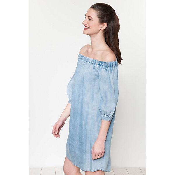 Shoulder Off denim blue Kleid light ONLY OPqxwAax