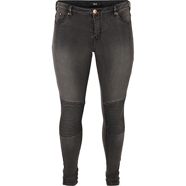 Zizzi Jeans Slim Amy Super grau w6rawd