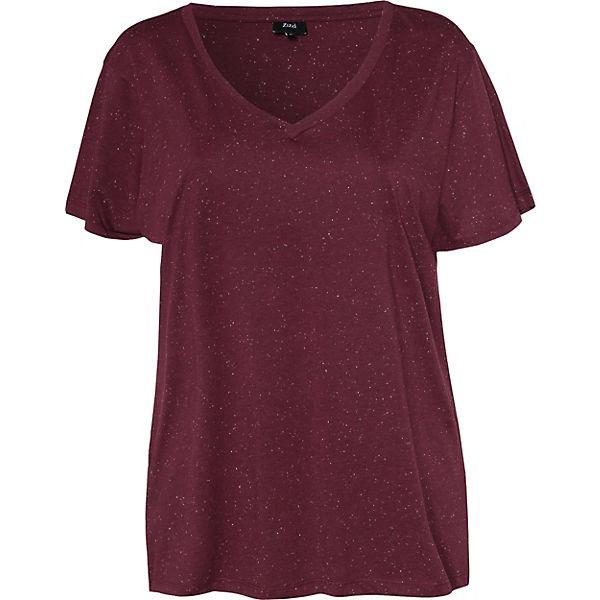 Shirt dunkelrot T Zizzi Zizzi Shirt T Zizzi dunkelrot HwgvH