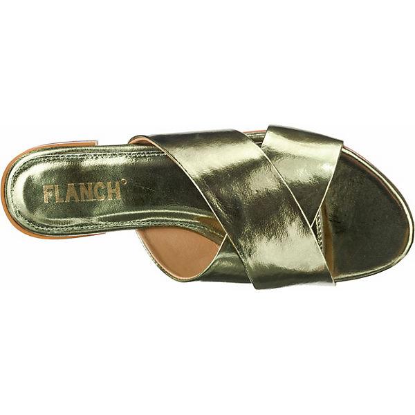 FLANCH, Pantoletten, grün Qualität  Gute Qualität grün beliebte Schuhe 8cd351