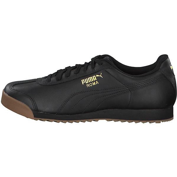 PUMA, Roma Classic Gum 366408-02 Sneakers Low, schwarz-kombi