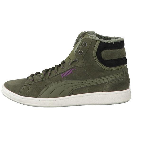 Vikky Corduroy 363729 PUMA grün Mid Sneakers High 6HzqdO