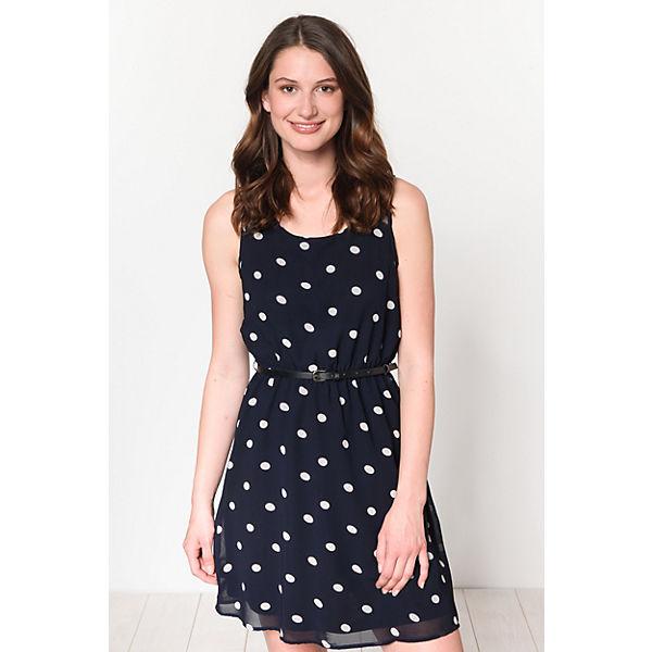 Kleid weiß blau ONLY Kleid ONLY wEX0nU