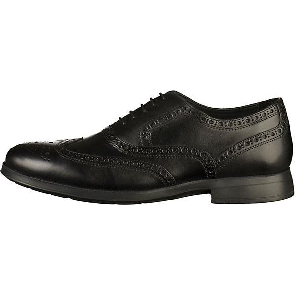 GEOX, Schnürschuhe, schwarz  Gute Qualität beliebte Schuhe