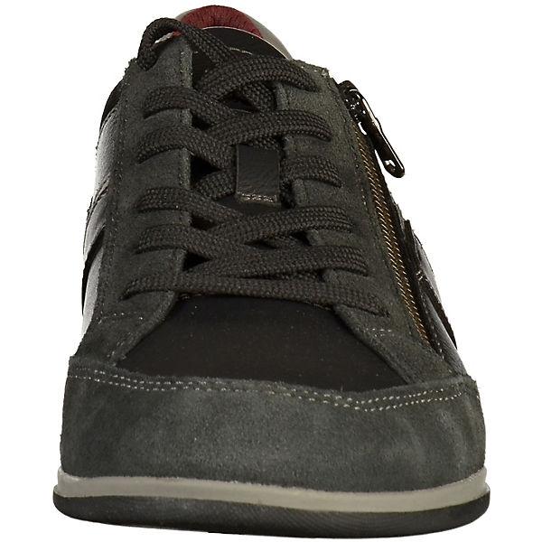 GEOX, Schnürschuhe, schwarz/grau     acd0b8