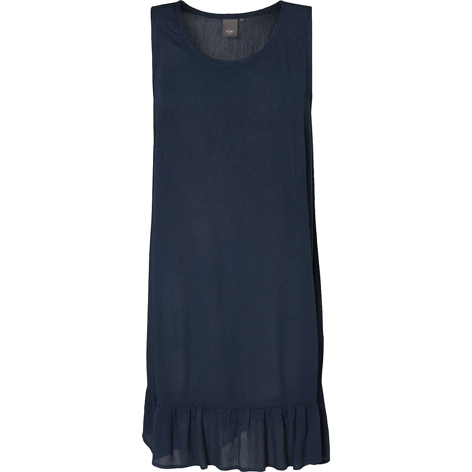 ICHI Sommerkleid Marrakech dunkelblau Damen Gr. 40