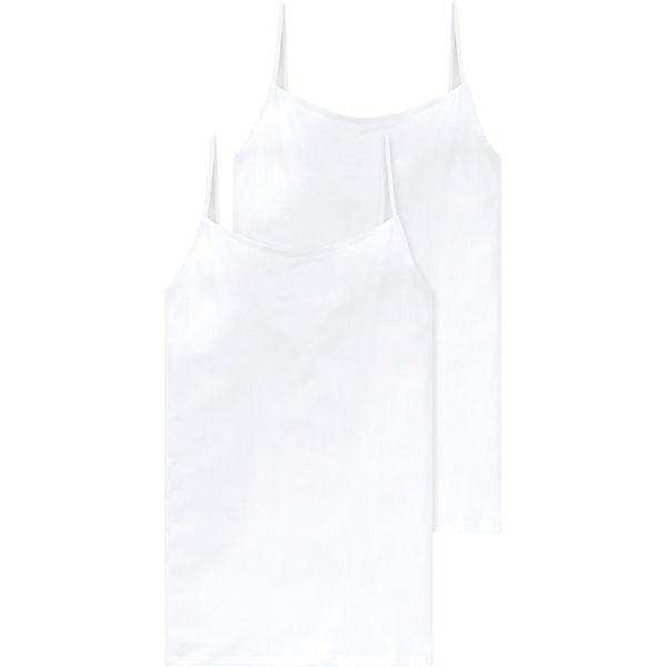 weiß SCHIESSER Spaghettitop Doppelpack SCHIESSER Unterhemden Unterhemden xXvqX7S