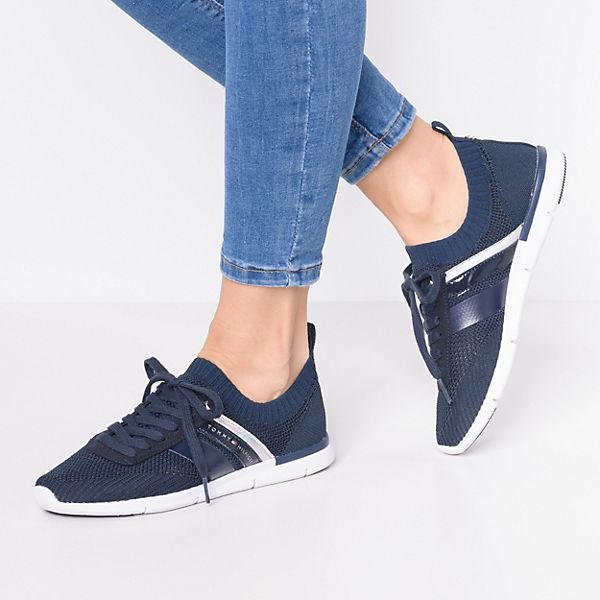 WEIGHT TOMMY Sneakers LIGHT SNEAKER Low KNITTED blau HILFIGER rrnq8tA