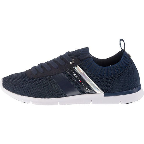 WEIGHT TOMMY Sneakers LIGHT SNEAKER Low KNITTED blau HILFIGER rrnq8tA