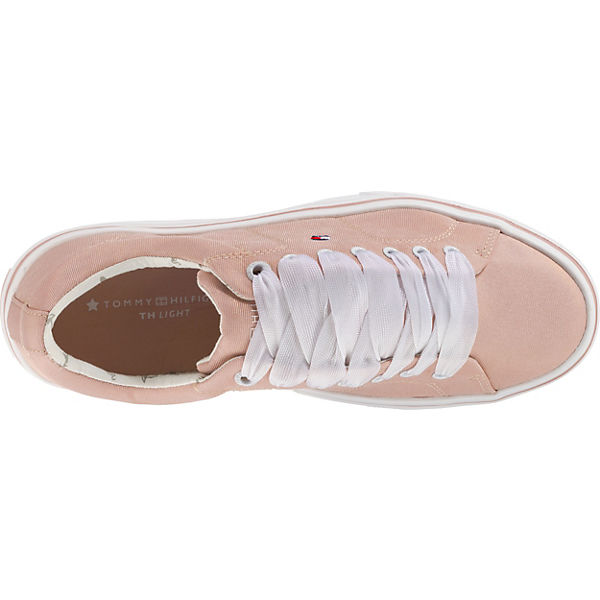 TOMMY Sneakers HILFIGER, METALLIC LIGHT WEIGHT LACE UP Sneakers TOMMY Low, rosa   158c91