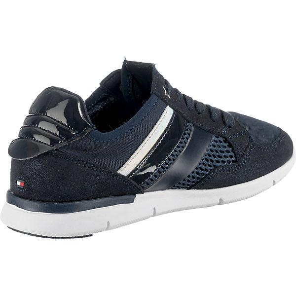 METALLIC WEIGHT TOMMY blau SNEAKER Sneakers LIGHT HILFIGER Low xFOtqOv