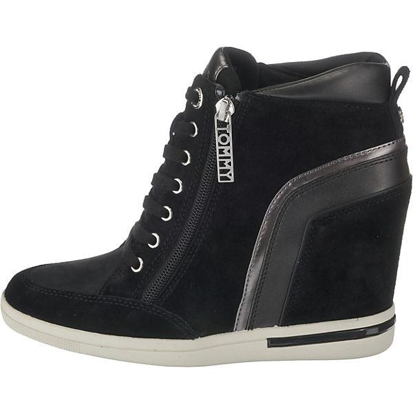SNEAKER TOMMY High WEDGE schwarz MID HILFIGER Sneakers Pww8ZnORq