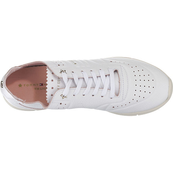 TOMMY HILFIGER, LEATHER LIGHT WEIGHT SNEAKER SNEAKER SNEAKER Sneakers Low, weiß  Gute Qualität beliebte Schuhe 77e70f