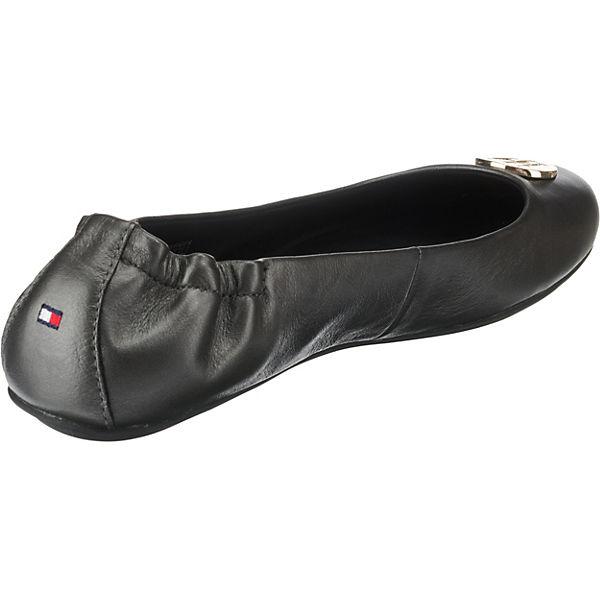 PEARLIZED Ballerinas schwarz TOMMY LEATHER HILFIGER Klassische BALLERINA A14qHwf