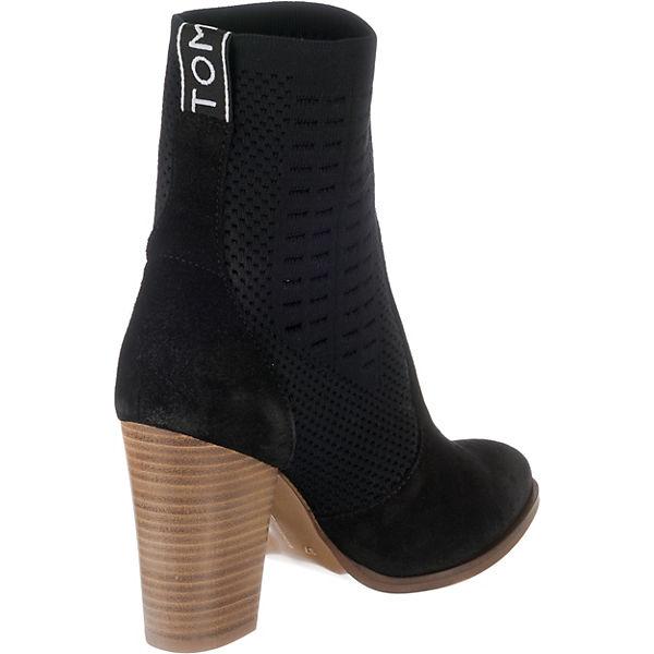 BOOT HILFIGER Boots Ankle TOMMY schwarz HEELED KNIT TOMMY ZInxOSPqZ