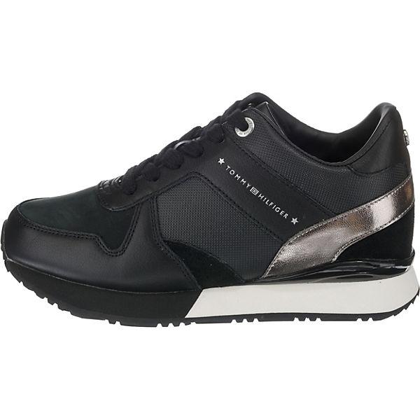 schwarz WEDGE TOMMY SNEAKER HILFIGER Sneakers Low HxwOqYzZ80