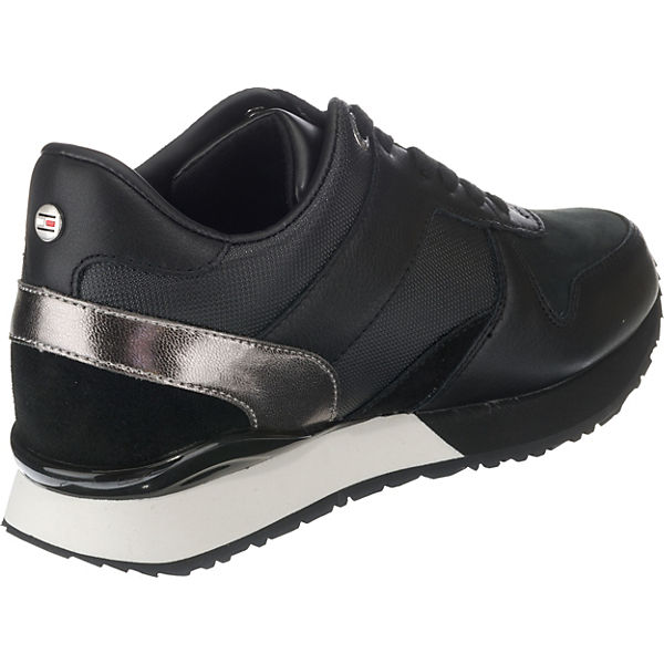 schwarz Low Sneakers SNEAKER TOMMY HILFIGER WEDGE XxqOCw7X0p