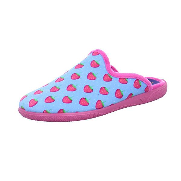 Slipper Pantoffeln Baby Strawberry Happy blau Pn8Bnwxq