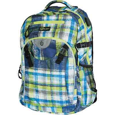 Wheel-Bee Schulrucksack Generation Z LED Blue/Green
