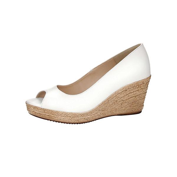 KLiNGEL, Keilpumps, weiß Schuhe  Gute Qualität beliebte Schuhe weiß 91ffec