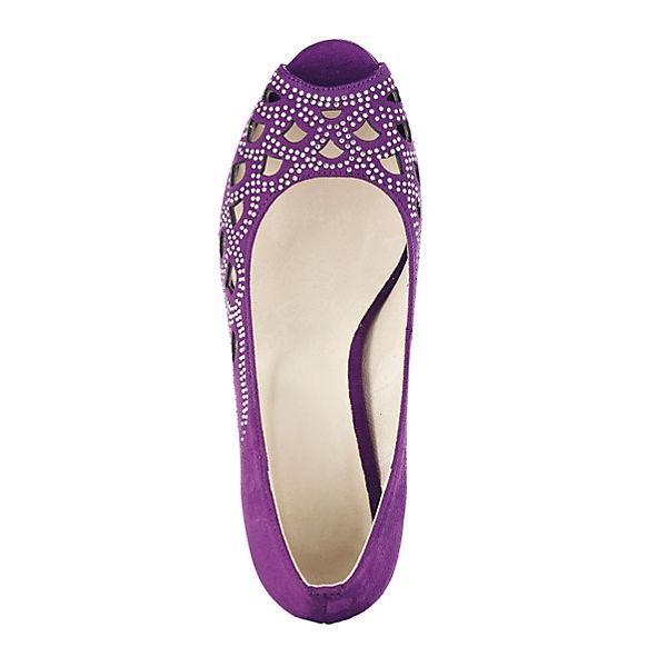 KLiNGEL Peeptoe-Pumps Gute lila  Gute Peeptoe-Pumps Qualität beliebte Schuhe e58839
