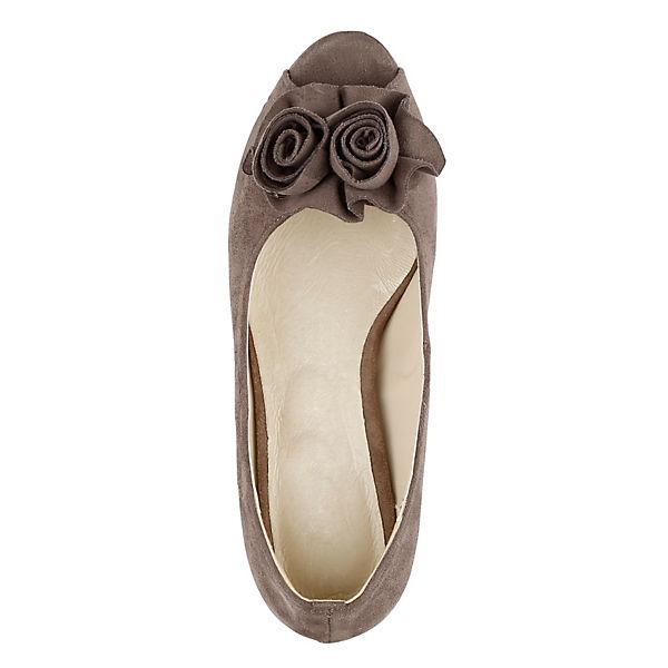 KLiNGEL, Peeptoe-Pumps, taupe Schuhe  Gute Qualität beliebte Schuhe taupe 395a7e