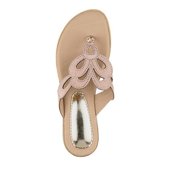 KLiNGEL, Dianette Zehentrenner, rosa Schuhe  Gute Qualität beliebte Schuhe rosa 3c235b