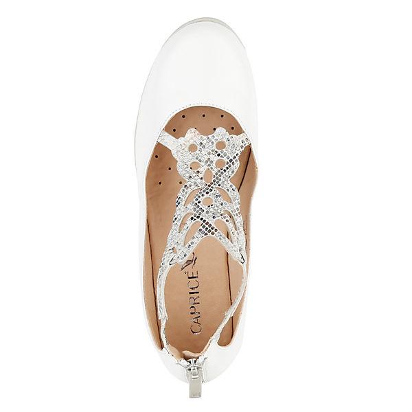 CAPRICE, Keilpumps, weiß  beliebte Gute Qualität beliebte  Schuhe 4cb8b0