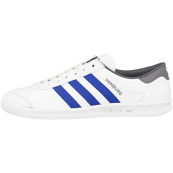 Low adidas Originals Hamburg silber Sneakers weiß Pw7Rwqv