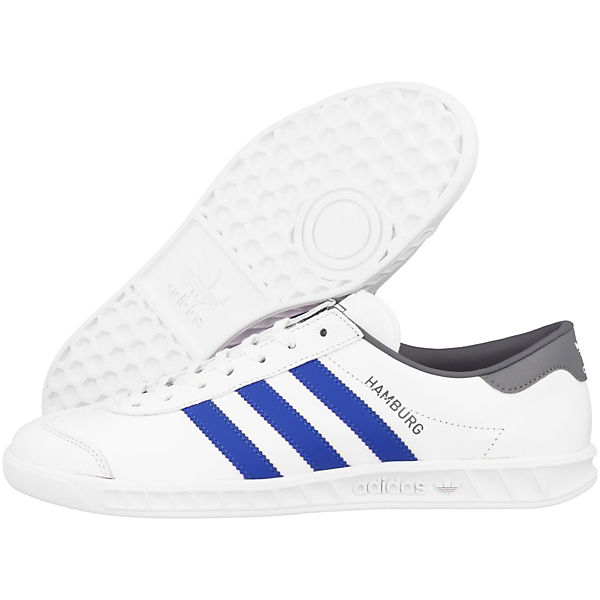 weiß Sneakers silber Hamburg Low adidas Originals xqBwnfSC0