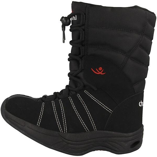 chung shi, Comfort Step Eskimo Winterstiefel, schwarz  Gute Qualität beliebte Schuhe