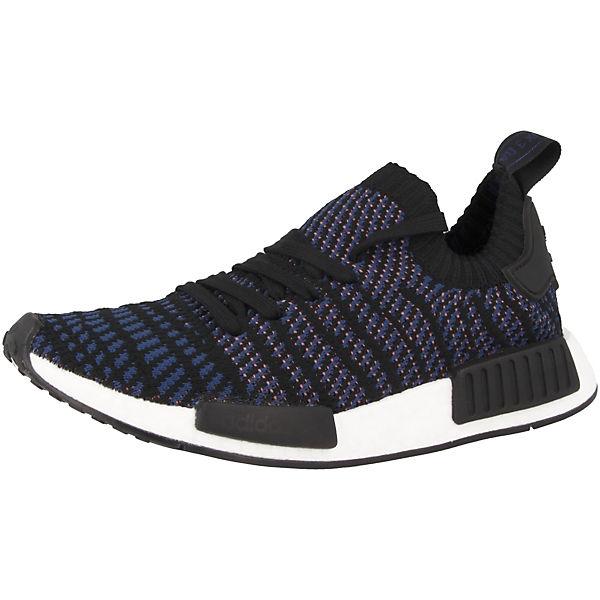 Primeknit NMD R1 Originals adidas Sneakers Low schwarz STLT RaIx7nwSTq