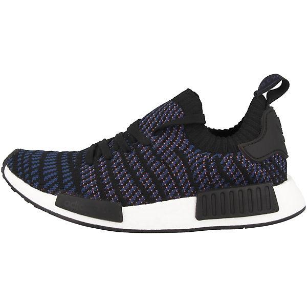 adidas NMD STLT Primeknit schwarz Sneakers Originals Low R1 rR65wxrq