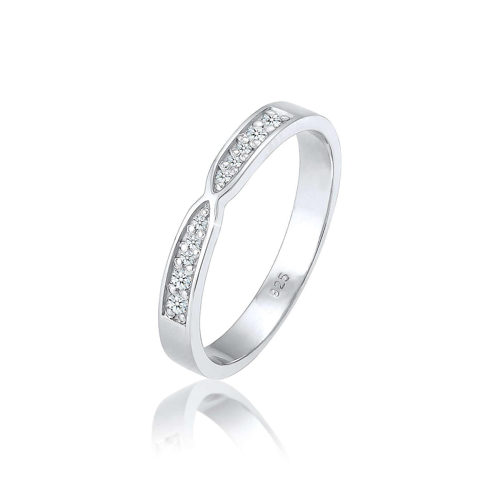 Diamore Ring silber Damen Gr. 54
